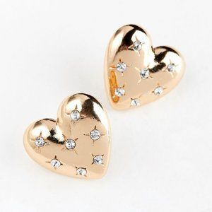 Urban Outfitters Quilted Heart Post Earrings